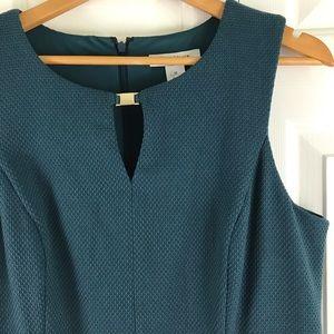 WHBM Sleeveless Dress Size 12 Teal Blue Green